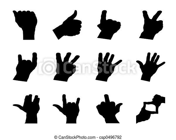 Hand signals - csp0496792