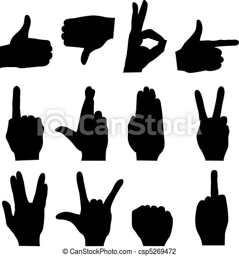 Hand silhouettes - csp5269472