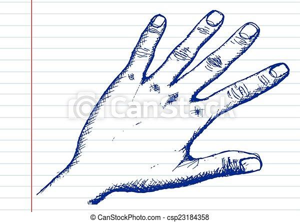 Hand Sketch By Pen - csp23184358