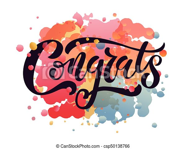 hand sketched congratulations lettering typography hand clip art rh canstockphoto com congrats clipart gif congrats clipart pictures