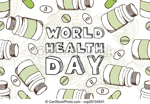 Hand Sketched World Health Day Background
