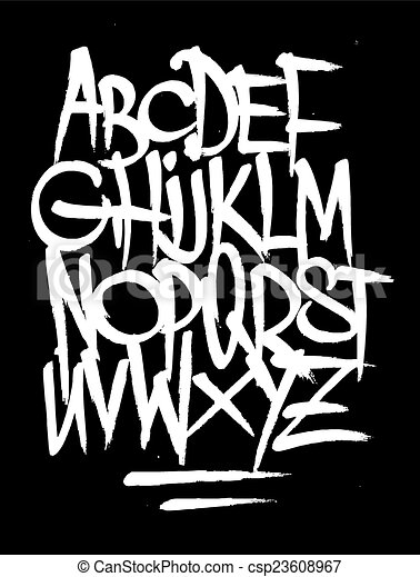 Hand style graffiti font alphabet vector hand style graffiti font alphabet vector thecheapjerseys Image collections