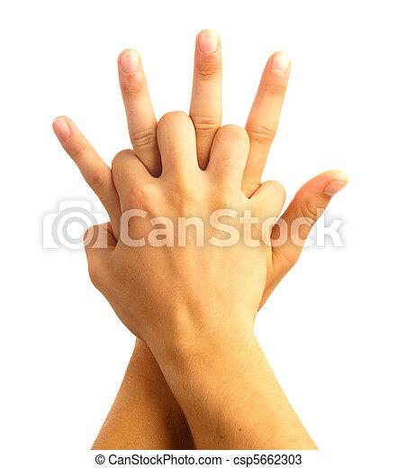 hand symbol - csp5662303