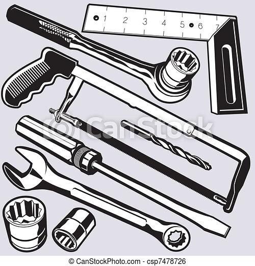 Hand Tools and Sockets - csp7478726