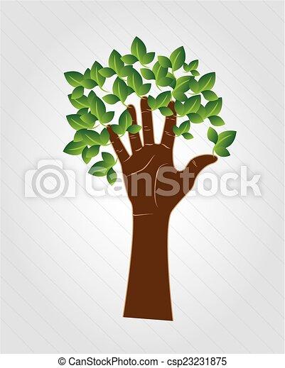hand tree - csp23231875