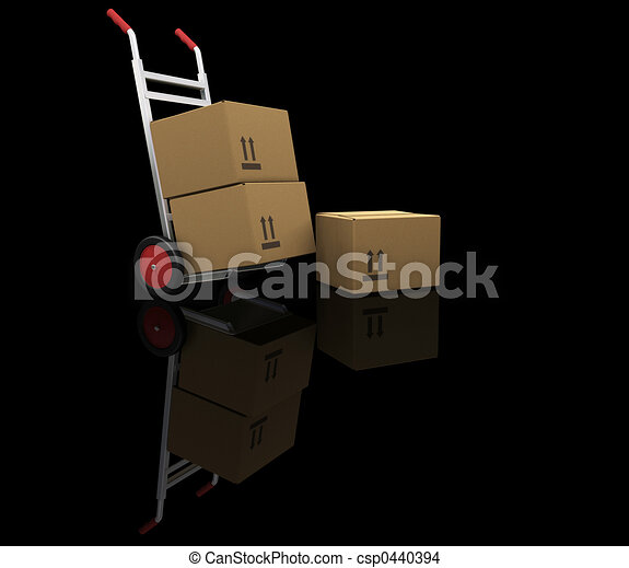 Hand truck with boxes - csp0440394