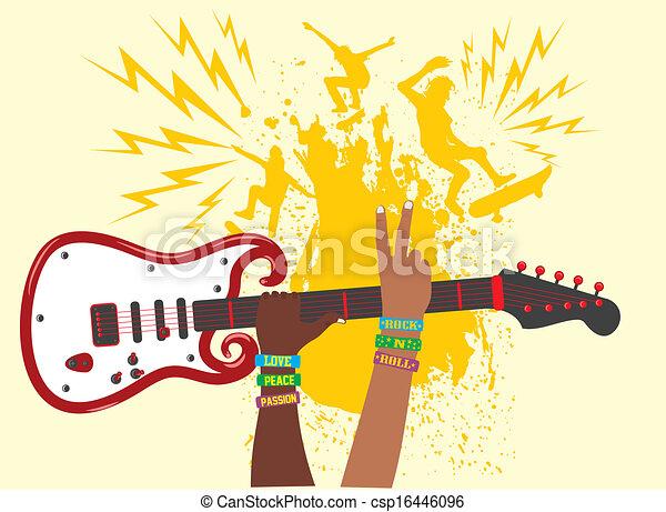 hand up guitar vector art eps vectors search clip art rh canstockphoto com guitar vector art free guitar vector art png