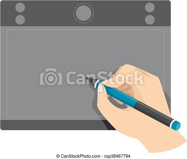Hand using Pen tablet - csp38467794