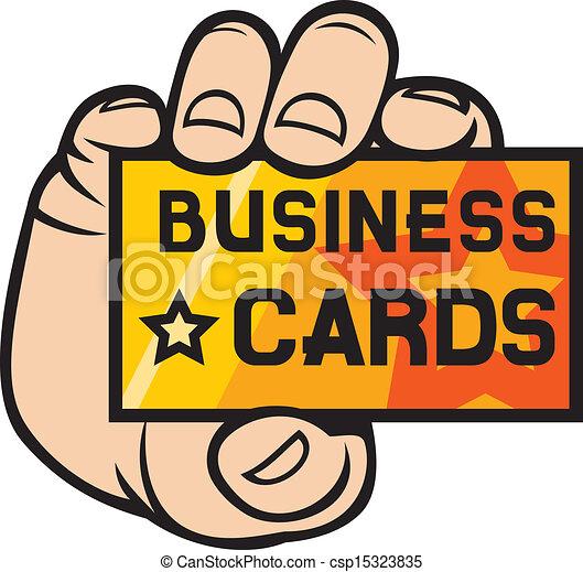 hand, visitekaartje, vasthouden - csp15323835
