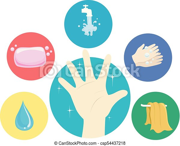 hand washing steps illustration illustration of a hand with hand rh canstockphoto com hand washing steps vector hand washing steps vector