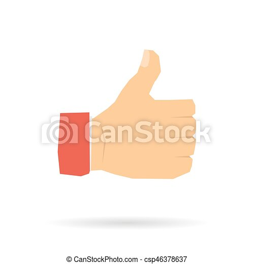 Hand with a raised thumb - csp46378637