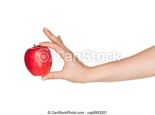 Hand with apple - csp8953201