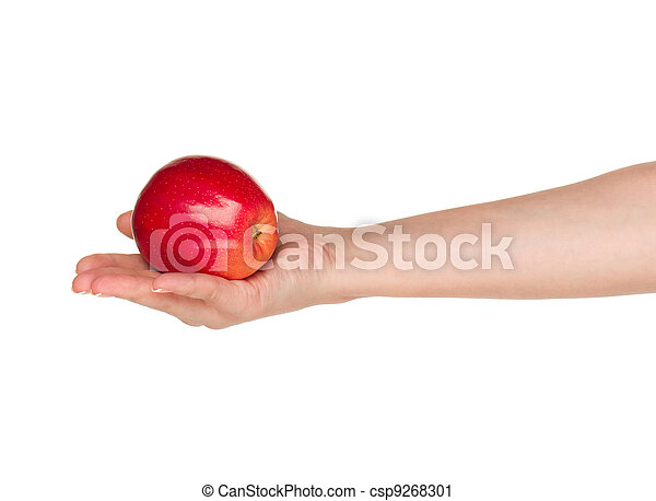 Hand with apple - csp9268301