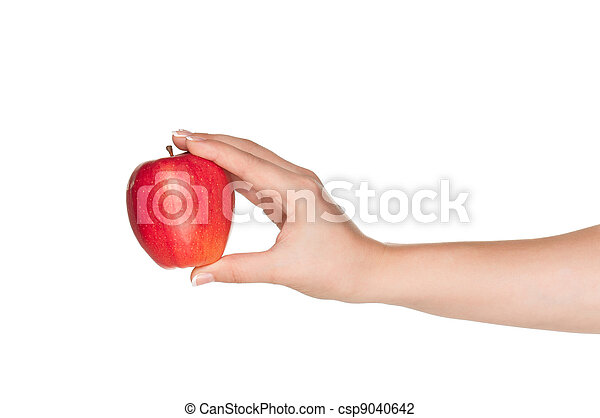 Hand with apple - csp9040642