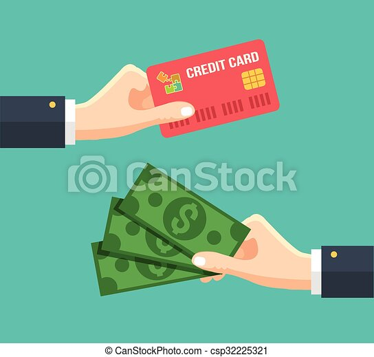 Hand with credit card - csp32225321