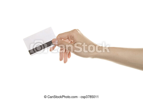 Hand With Credit Cards - csp3785011