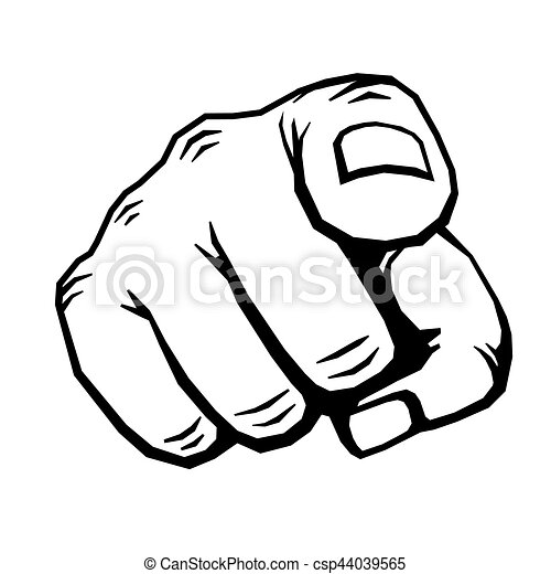 hand with finger pointing vector illustration choosing gesture icon rh canstockphoto com pointing finger vector graphic pointing finger vector free download