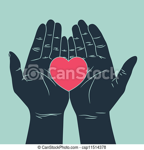 hand with love - csp11514378