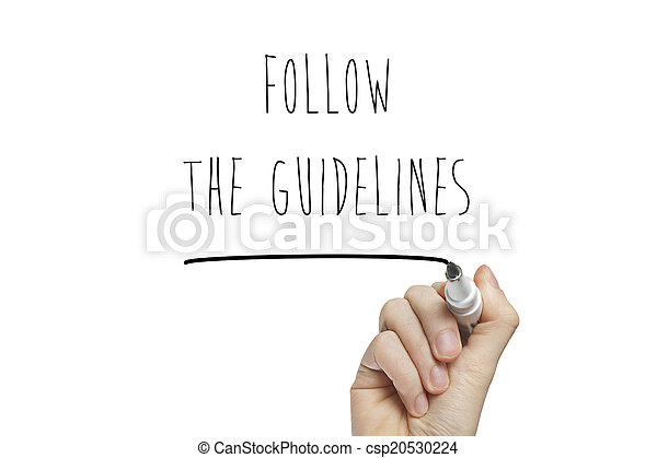 Hand writing follow the guidelines - csp20530224
