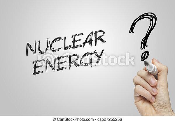 Hand writing nuclear energy - csp27255256
