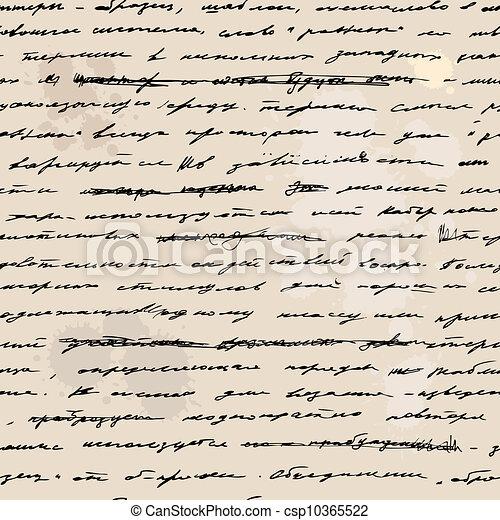 Hand written draft text. - csp10365522