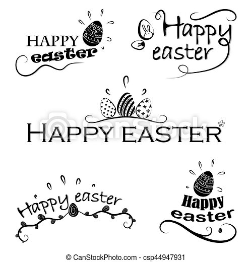 Hand written easter phrases eeting card text templates with hand written easter phrases eeting card text templates with easter eggs isolated on white background happy easter lettering modern calligraphy style m4hsunfo