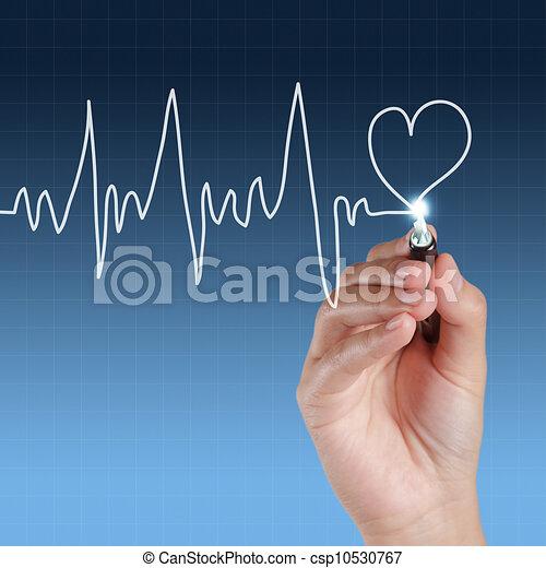 hand, zeichnung, medizinprodukt - csp10530767