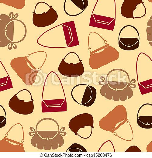 Handbag pattern seamless - csp15203476