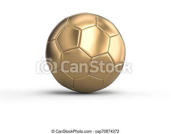 handball gold ball on a white background. - csp70874372