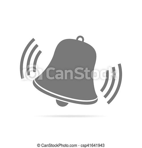 Handbell of alarm clock. Icon. Vector illustration. - csp41641943