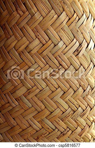 handcraft mexican cane basketry vegetal texture - csp5816577