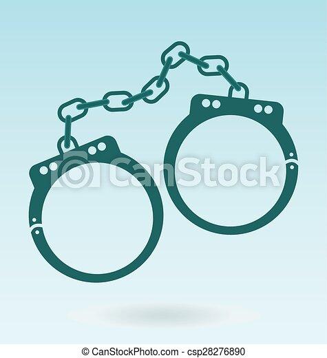 Esposas. El símbolo de la justicia. icono policial - csp28276890