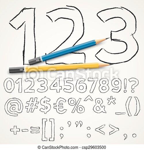Handdrawn font - csp29603500