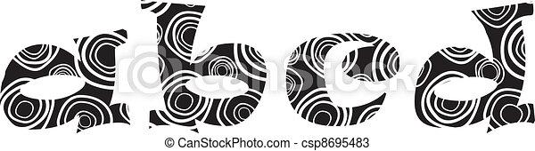 Handdrawn vector lliteras -a,b,c,d - csp8695483