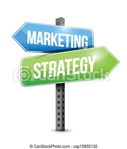 handel, ilustracja, strategia, projektować, znak, droga - csp15855132