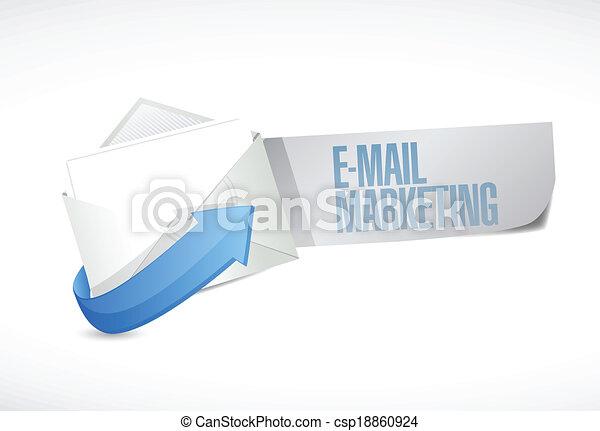 handel, projektować, email, ilustracja, znak - csp18860924