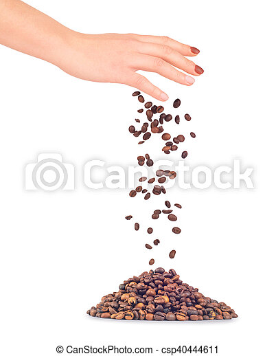 Handful of a coffee - csp40444611