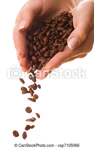 Handful of a coffee - csp7105066
