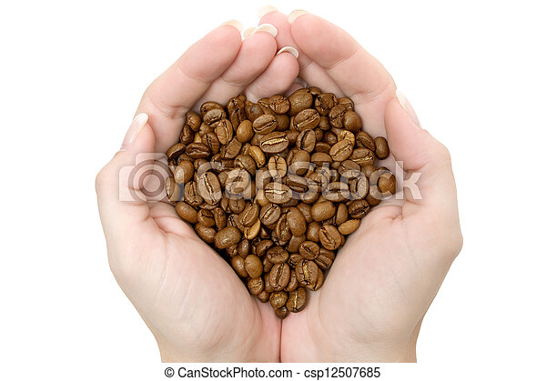 Handful of Coffee Beans - csp12507685