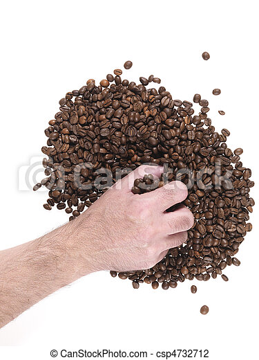 handful of coffee beans - csp4732712