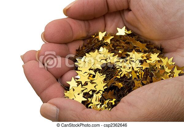 Handful Of Gold Stars - csp2362646