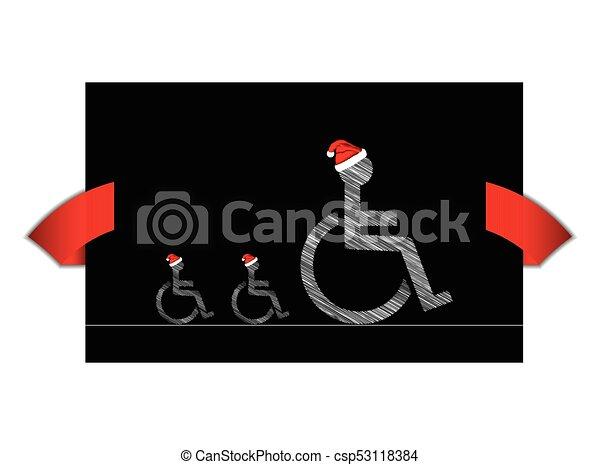 handicapé, bannière, conception, spécial - csp53118384