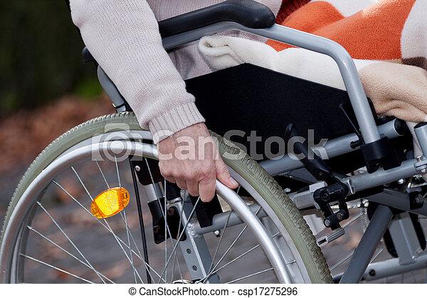 handicapé, en mouvement - csp17275296