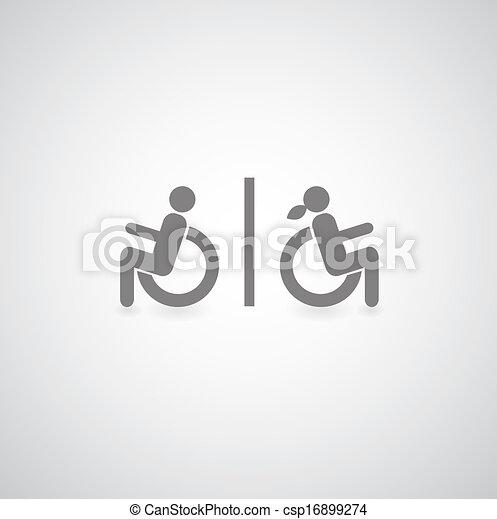 handicapé, symbole - csp16899274