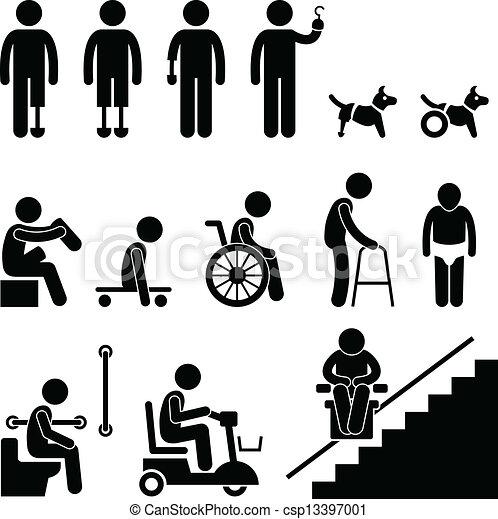 handicap, disable, amputé, gens équipent - csp13397001