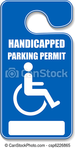 Handicap parking tag - csp6226865
