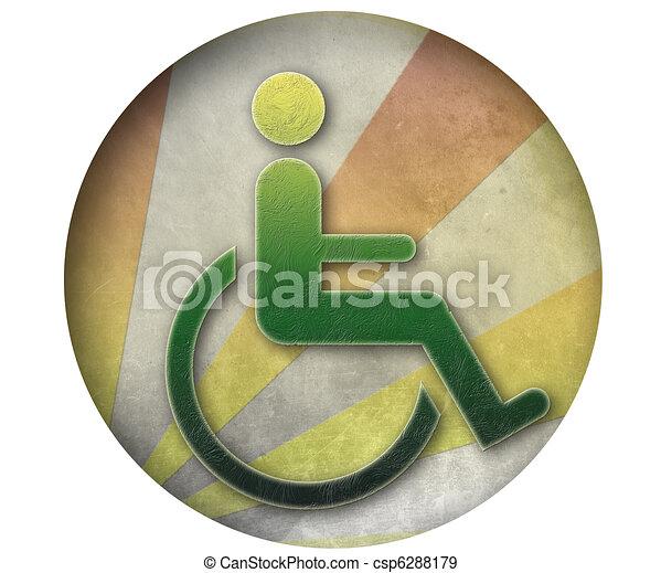 Handicap Symbol Of Accessibility Handicap Button Symbol Of