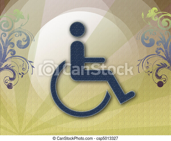 Handicap Symbol Of Accessibilitybackground Vector