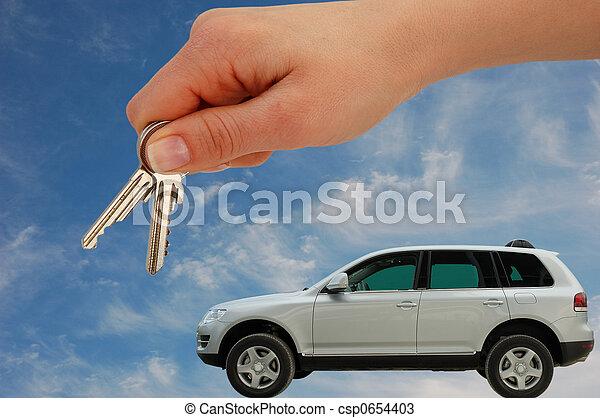 Handing Over The Car Keys Handing Over The Keys For A New Luxury Car