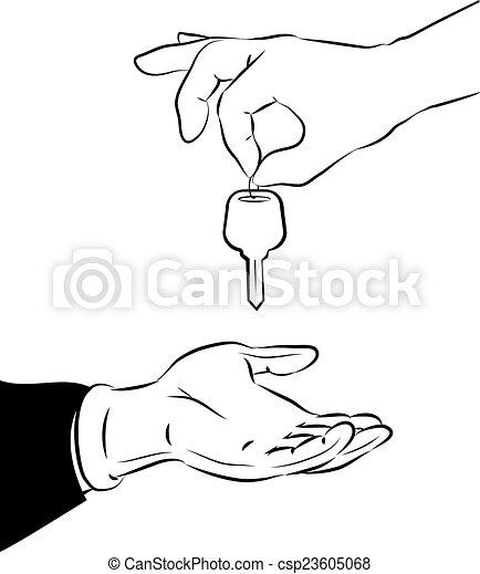 Handing over the key - csp23605068